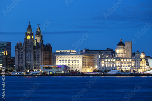 The Three Graces of Liverpool Poster