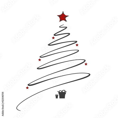 weihnachtsbaum mit sternen und geschenken modern. Black Bedroom Furniture Sets. Home Design Ideas