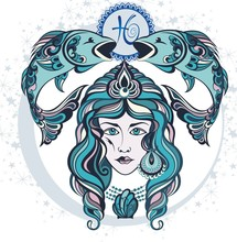 Decorative Zodiac Sign Pisces