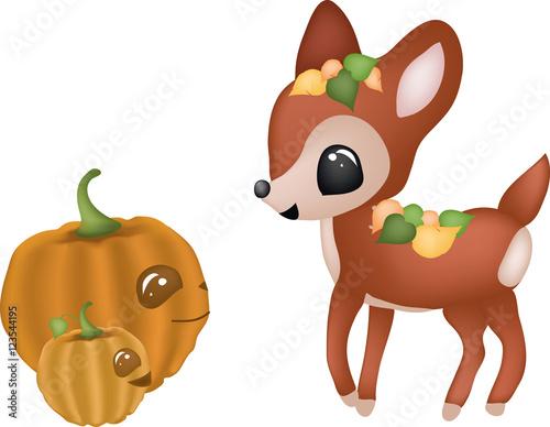 Herbstliches Zusammentreffen Poster