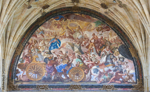 Photo Fresco in the Convento de San Esteban in Salamanca, Spain