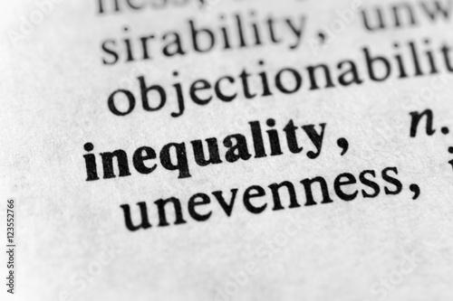 Fotografie, Obraz  Inequality