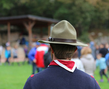 Scout Leader With The Great Ca...