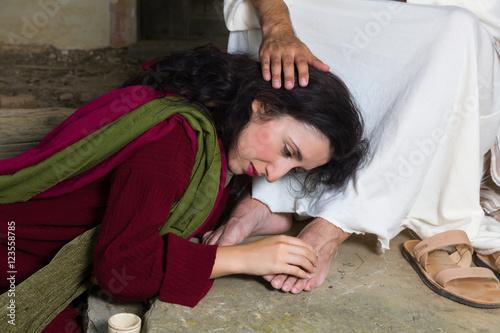 Stampa su Tela Tears of shame of Mary Magdalene