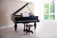 Piano In Empty Classic Room