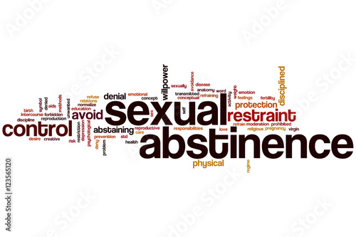 Photo Sexual abstinence word cloud