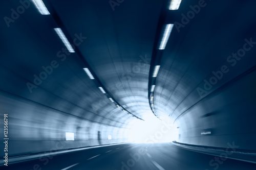 Foto auf Leinwand Tunel abstract highway road tunnel