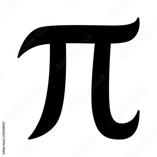 Pi 314 Mathematical Constant Sign Or Symbol Flat Icon For Math Apps