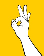 Man Hand Making Ok Sign