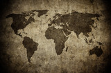 mapa grunge świata - 123571976