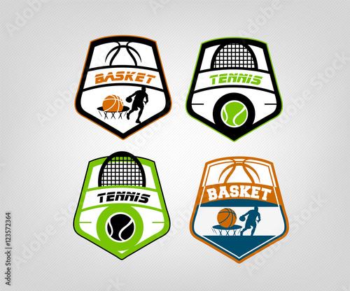 Obraz na plátně sport badge icon design