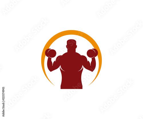 Obraz na plátně crossfit logo