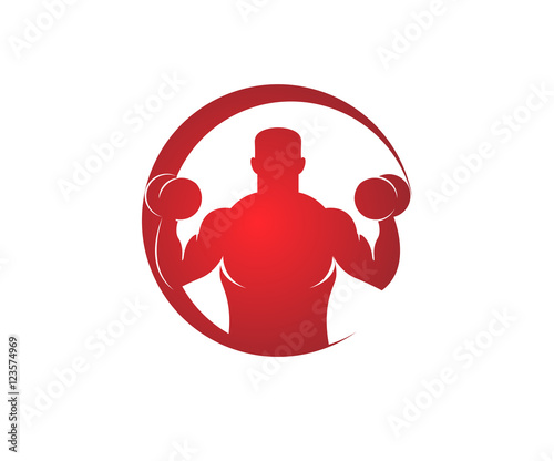 Fotografie, Obraz crossfit red logo