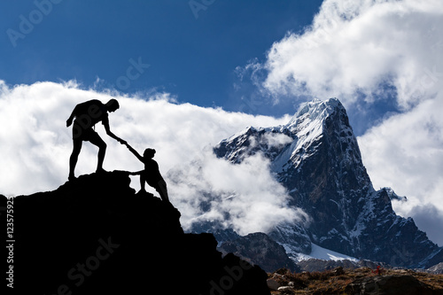 Himalayas landscape in Nepal