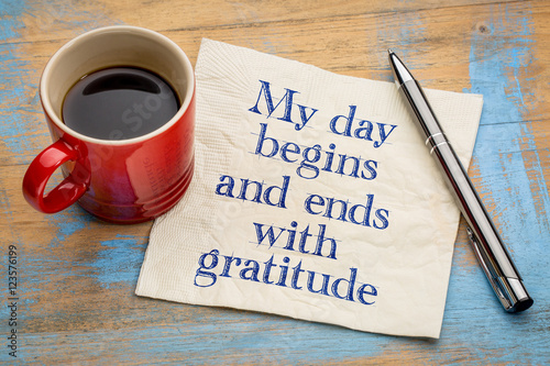 Photo My day begins and ends with gratitude