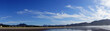 canvas print picture - Panorama of high cirrus clouds