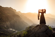 Omani Woman In The Mountains