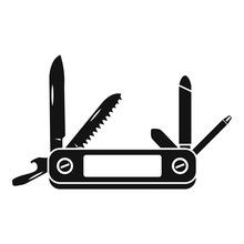 Multifunction Knife Icon. Simple Illustration Of Multifunction Knife Vector Icon For Web