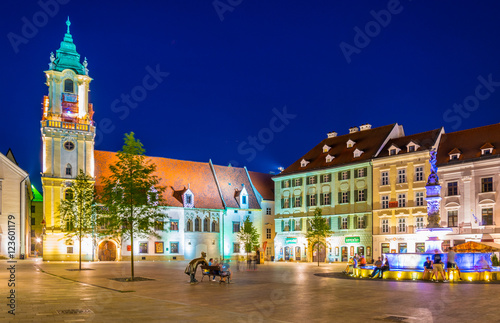 Photo  Old town hall in bratislava situated on the hlavne namestie (the main square) du