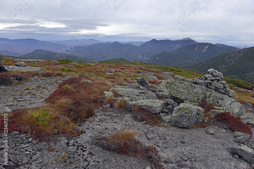 Fotografie, Obraz  The Alpine subarctic zone in Autumn colors on the summit of an Adirondack 46er i