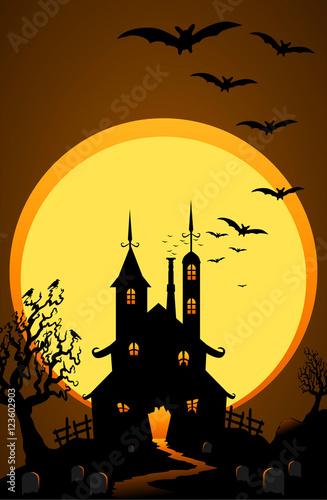 Fotografie, Obraz  Haunted House Holloween