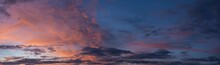 Panorama Of A Twilight Sky Be...