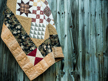 Quilt And Wood