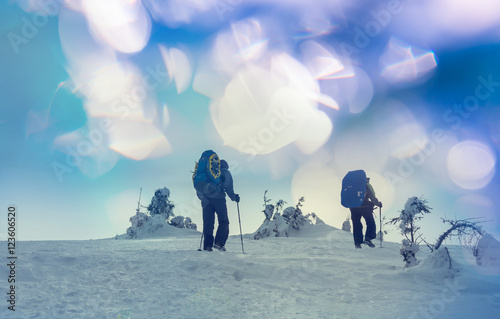 Poster Glisse hiver Winter hike