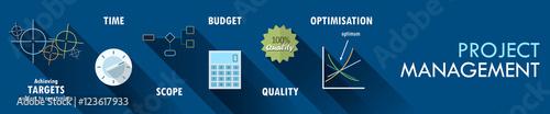 PROJECT MANAGEMENT Vector Concept Icons Fototapet