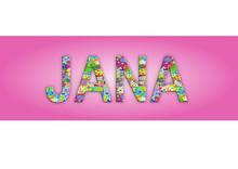 Vorname Jana, Grafik