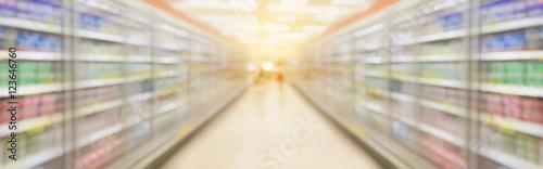 supermarket aisle blur background