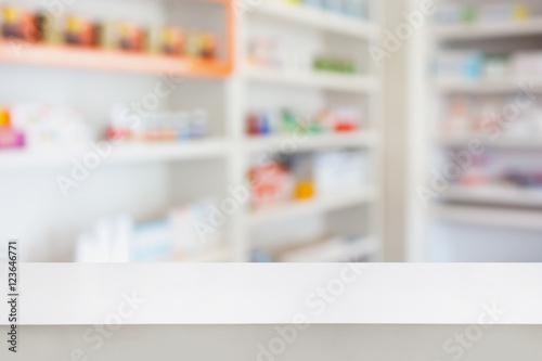 Poster Pharmacie pharmacy table in the pharmacy drugstore