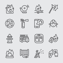 Fire Department Line Icon
