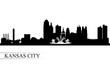 Kansas City skyline silhouette background