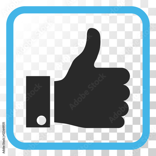 Thumb Up Blue And Gray Vector Icon Image Style Is A Flat Icon