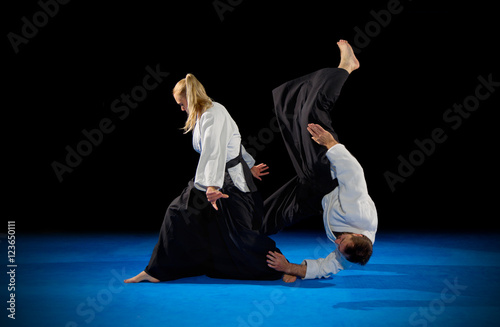 Garden Poster Martial arts Martial arts fighters isolated
