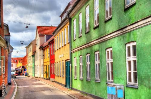 Poster Scandinavie Buildings in the old town of Helsingor - Denmark