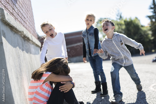 Photo  Elementary Age Bullying in Schoolyard