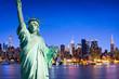 New York Skyline mit Freiheitsstaue als Hintergrund
