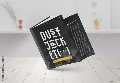 Dust Jacket Mockup Set  Buy This Stock Template And