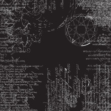 Background Of The Papyrus With Occult Symbols And Pentagram
