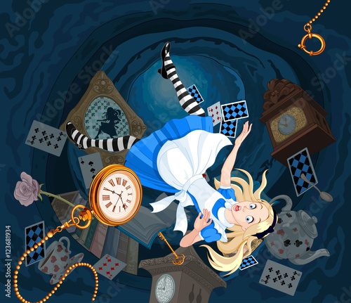 Falling Alice Wallpaper Mural