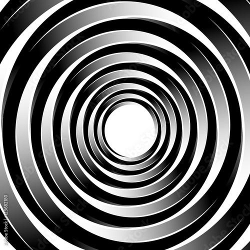 geometryczny-wzor-spirali-z-koncentrycznych-kregow-pierscienie