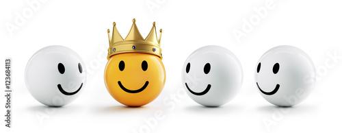 Valokuvatapetti Smiley mit Krone und Freunden