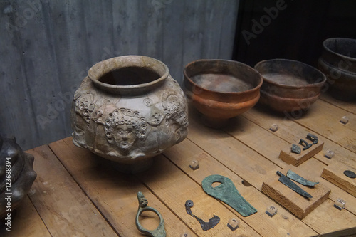 Pottery and metal artifacts Wallpaper Mural