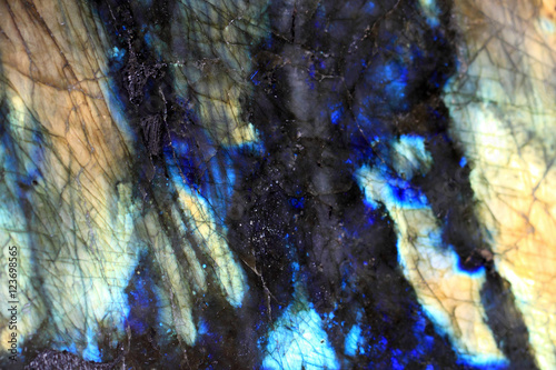 Photo sur Toile Les Textures Polished Labradorite stone