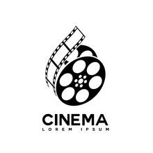 Film Strip Cinema Abstract Logo Design Template