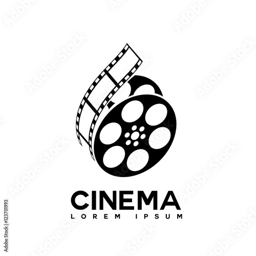 film strip cinema abstract logo design template Fototapet
