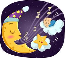 Mascot Moon Star Lullaby Baby