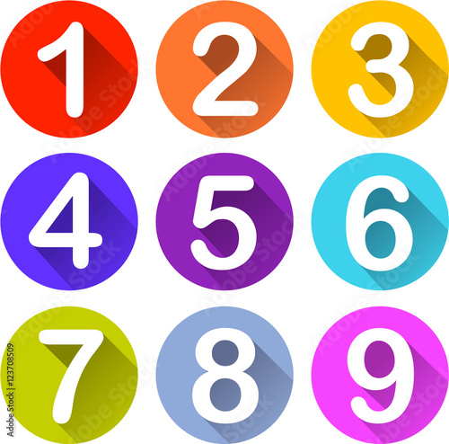 Fotografía  colorful numbers icons